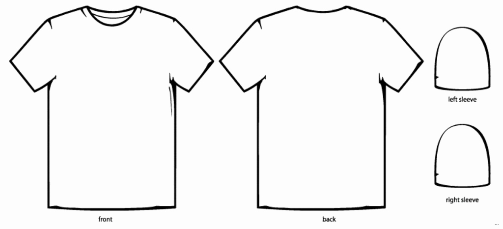 Printable T Shirt Templates Elegant Shirt Template Design T Shirt Design Template Illustrator