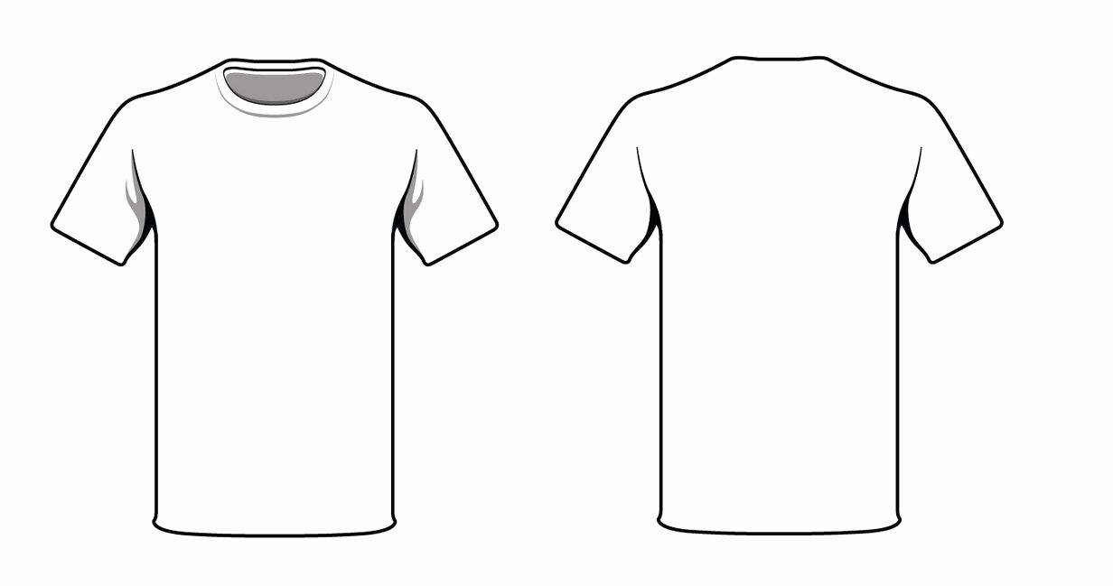 Printable T Shirt Templates Fresh Blank Tshirt Template