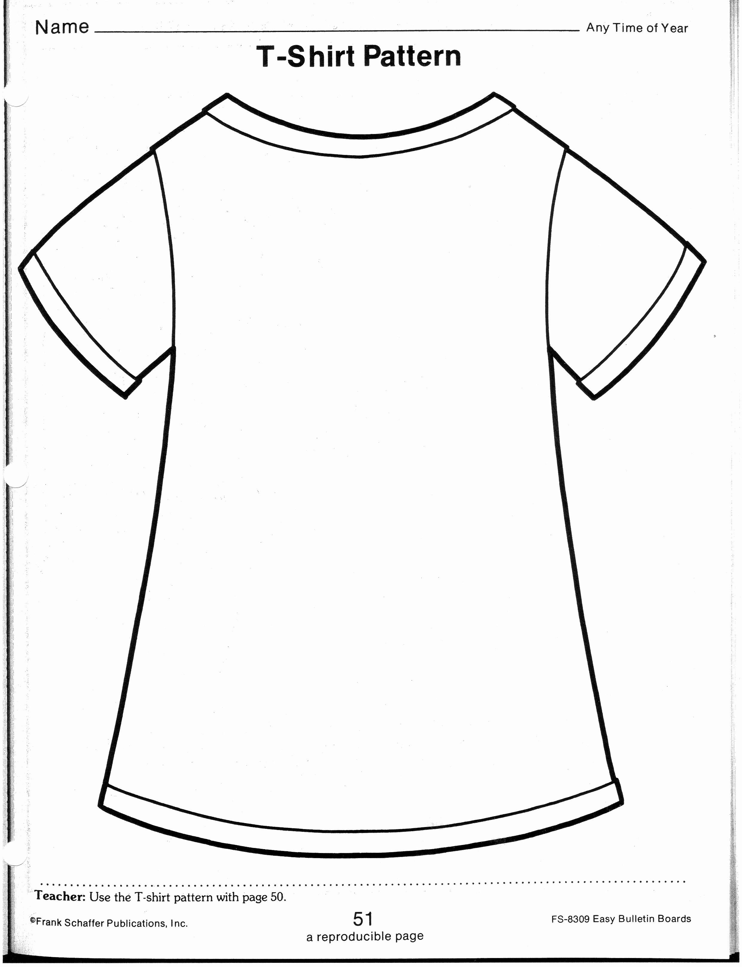 Printable T Shirt Templates Inspirational Printable Tshirt Template Printable 360 Degree
