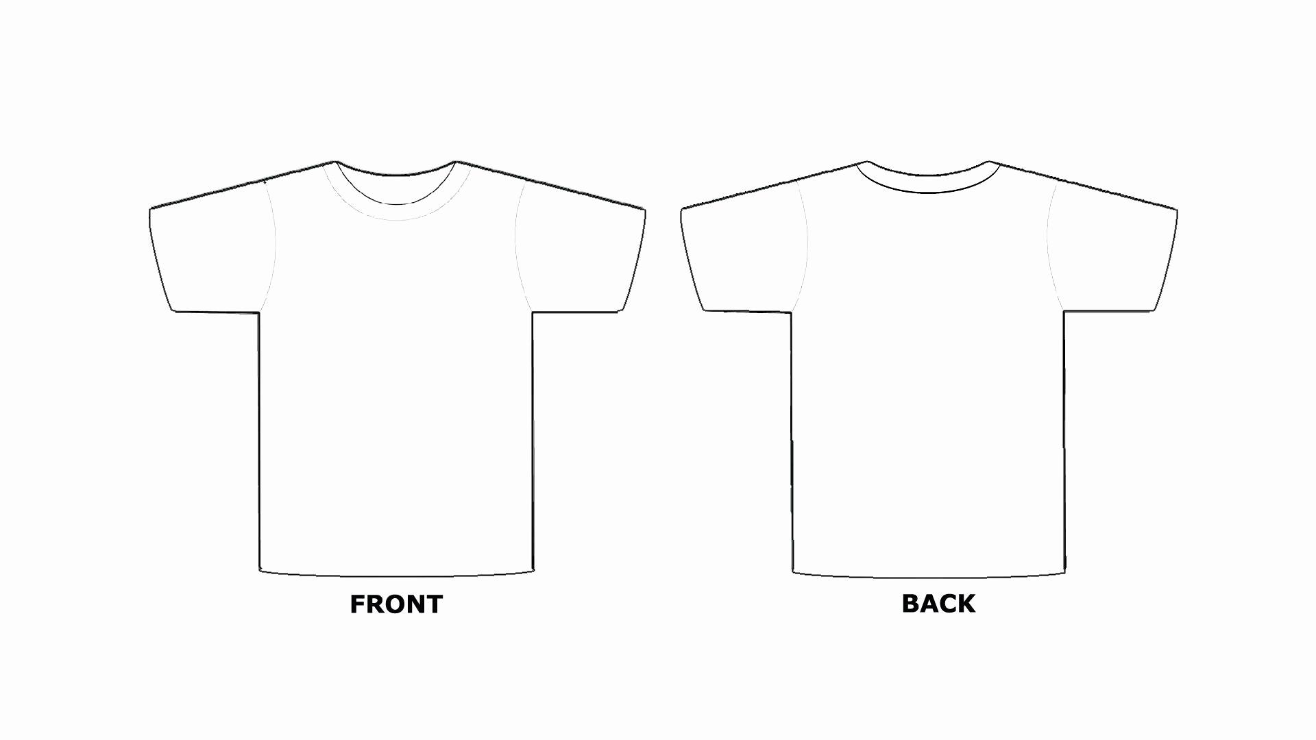 Printable T Shirt Templates Lovely Blank Tee Shirt Template – Emmamcintyrephotography