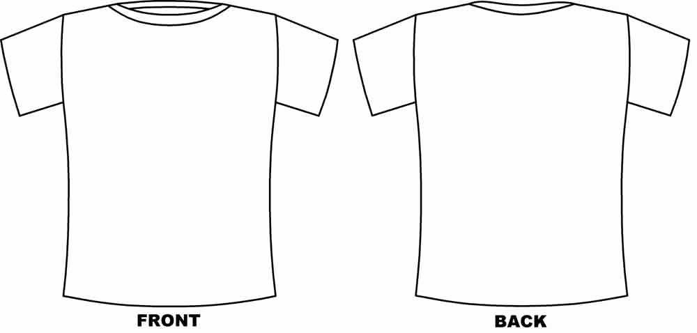 Printable T Shirt Templates Lovely Printable Tshirt Template Printable 360 Degree