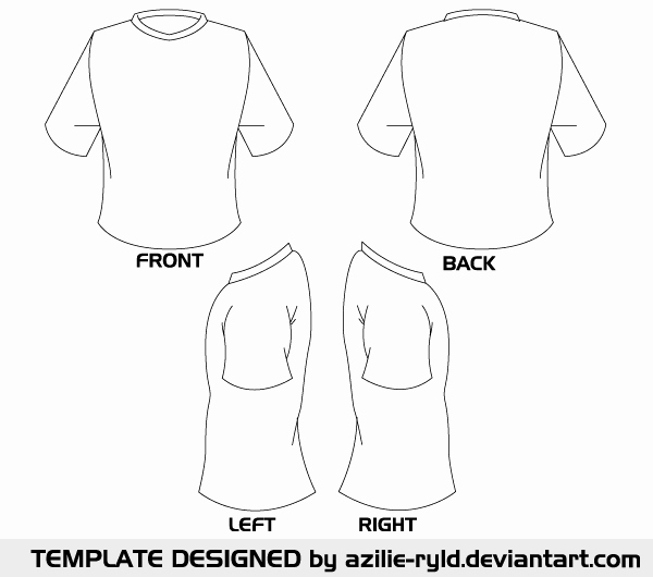 image relating to Printable T Shirt Templates called Printable Blank Tshirt Template - Floss Papers