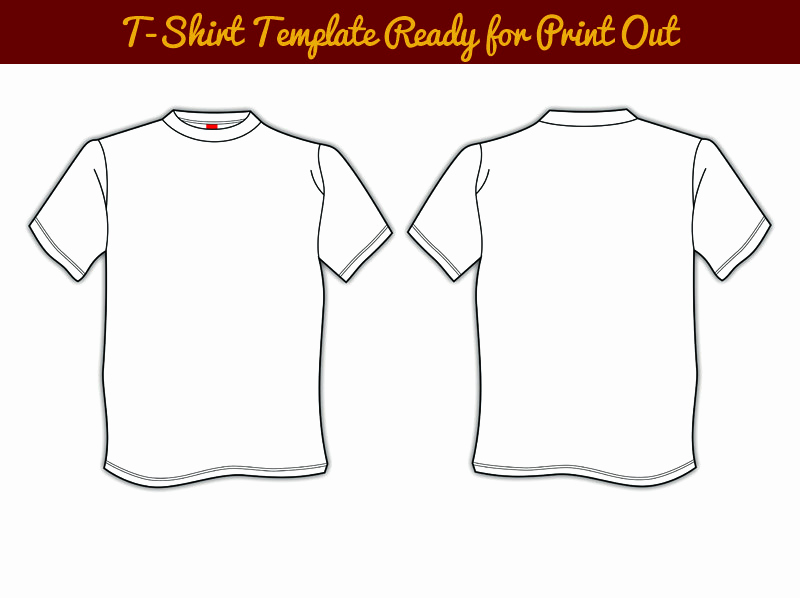 Printable T Shirt Templates New Blank T Shirts Template