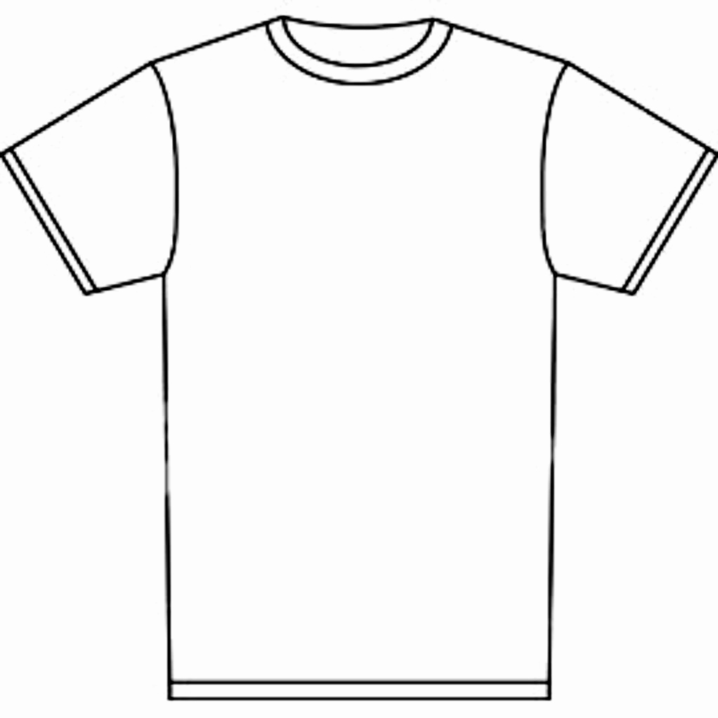 Printable T Shirt Templates New Blank Tshirt Template