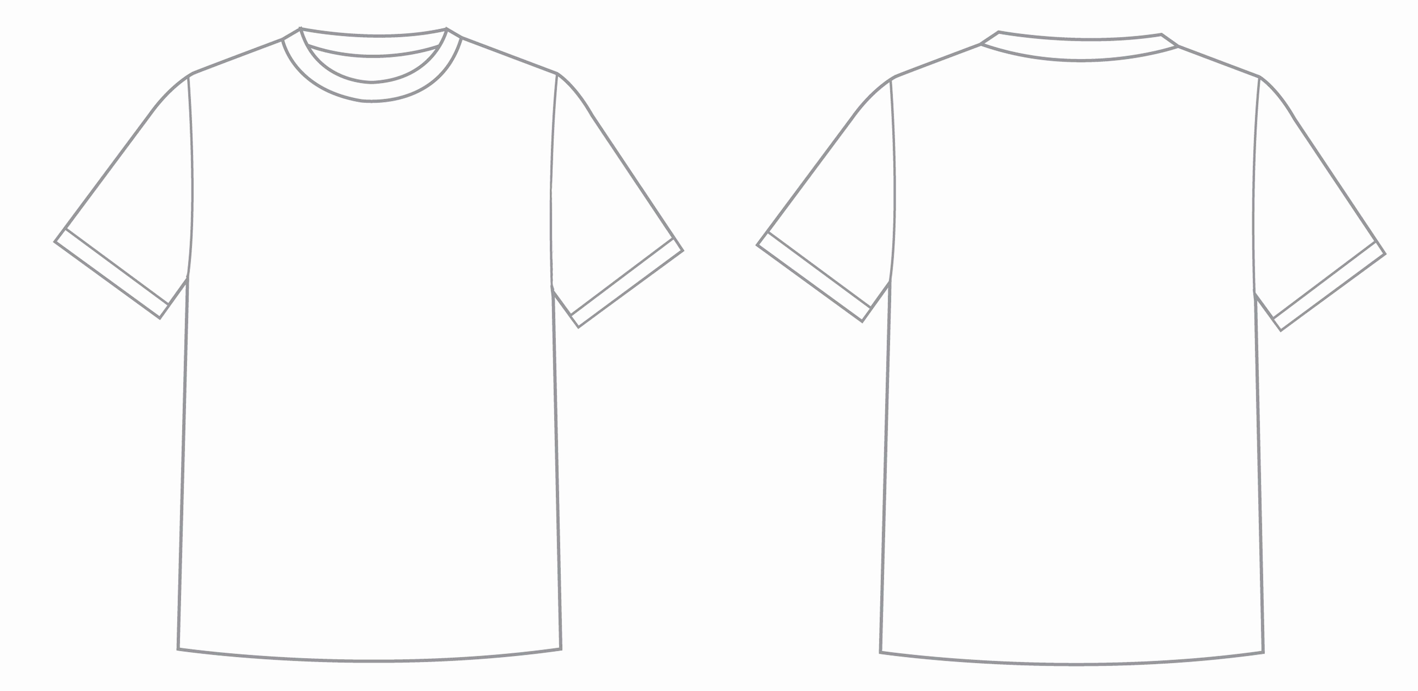 Printable T Shirt Templates New Printable Tshirt Template Printable 360 Degree