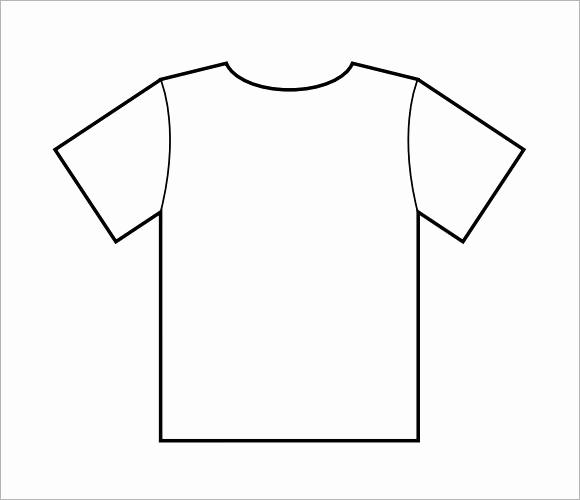 Printable T Shirt Templates Unique 8 T Shirt Samples