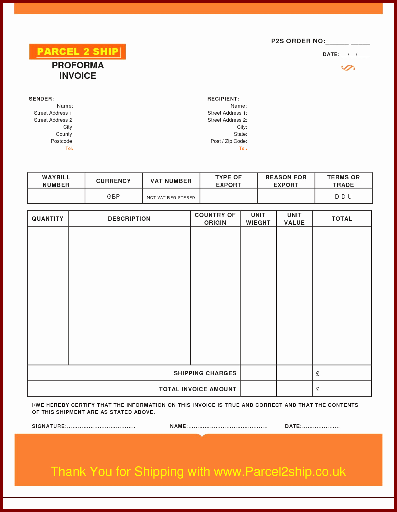 Pro forma Invoice Template Beautiful Proforma Invoice Template Pdf