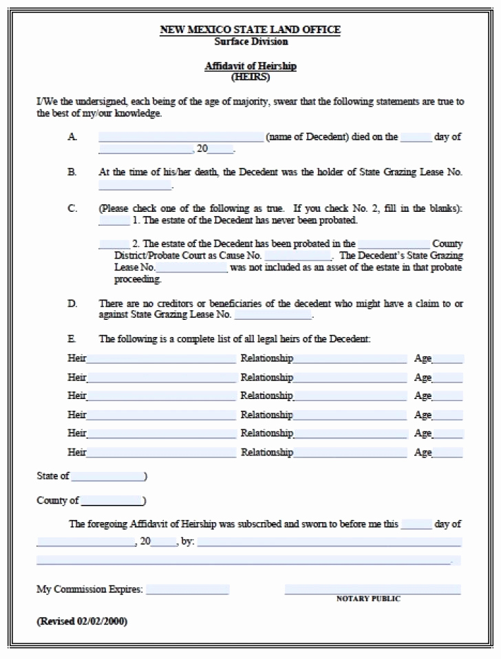 Probate Accounting Template Excel Luxury Free Affidavit Fact form Probate Accounting Template
