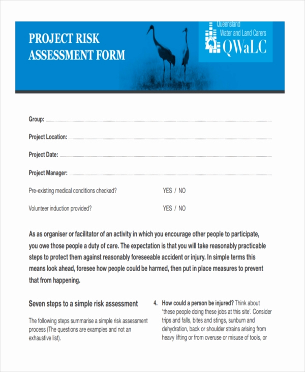 Project Risk assessment Template Lovely 37 Risk assessment Templates