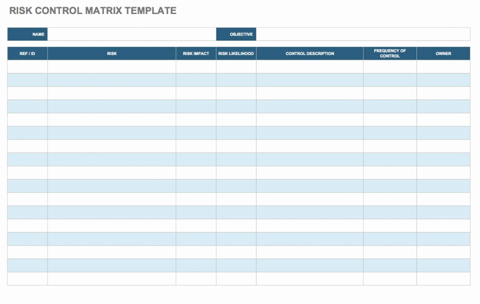 Project Risk assessment Template Luxury Free Risk assessment Matrix Templates