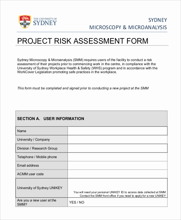 Project Risk assessment Template Unique Project Risk assessment Template to Pin On