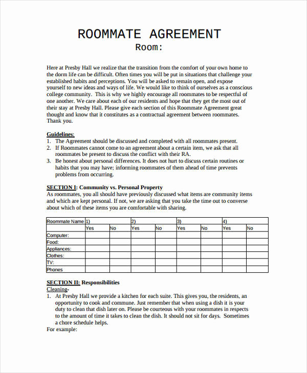 Roommate Chore Chart Template Best Of 9 Chore Chart Templates In Pdf