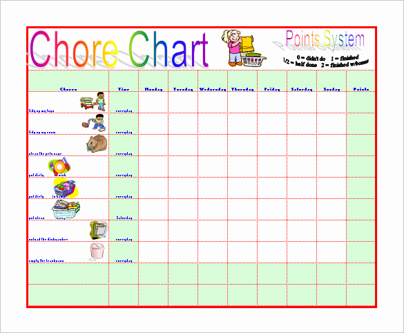 Roommate Chore Chart Template Best Of Roommate Chore Chart Template New Chore Chart Template New