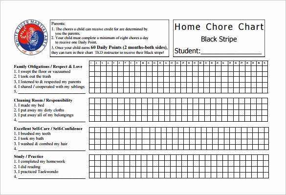 Roommate Chore Chart Template Luxury Chore Chat Template 14 Download Free Documents In Word Pdf