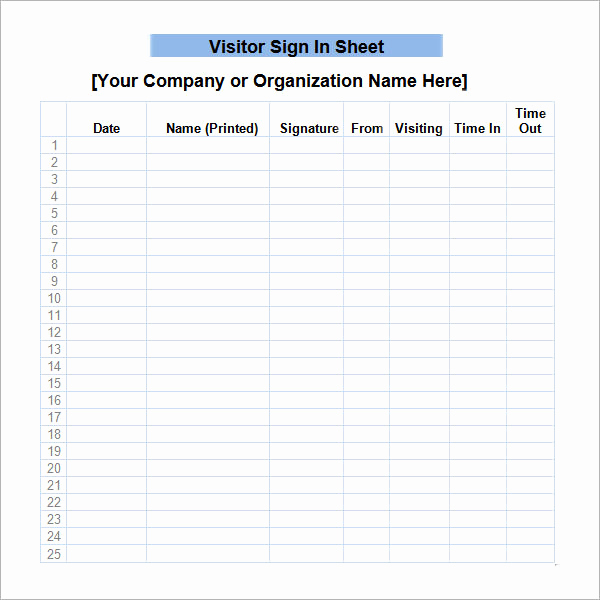Sign In Sheet Template Doc Best Of Sign In Sheet Template 21 Download Free Documents In