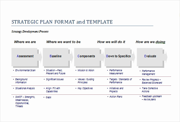 Strategic Planning Template Word Awesome Free Strategic Plan Template