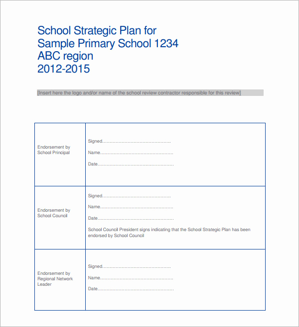 Strategic Planning Template Word Awesome Sample Strategic Plan Templates 10 Free Documents In
