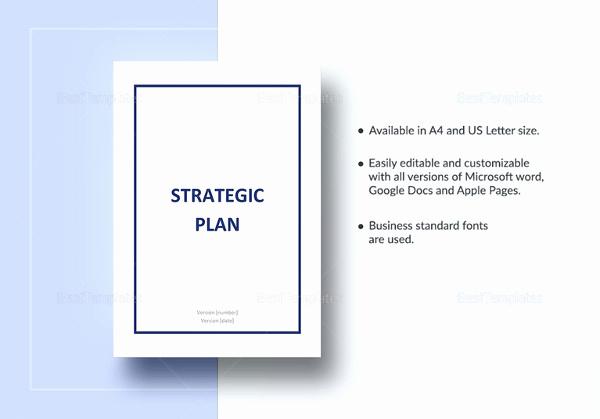 Strategic Planning Template Word Beautiful 16 Strategic Plan Templates Pdf Doc