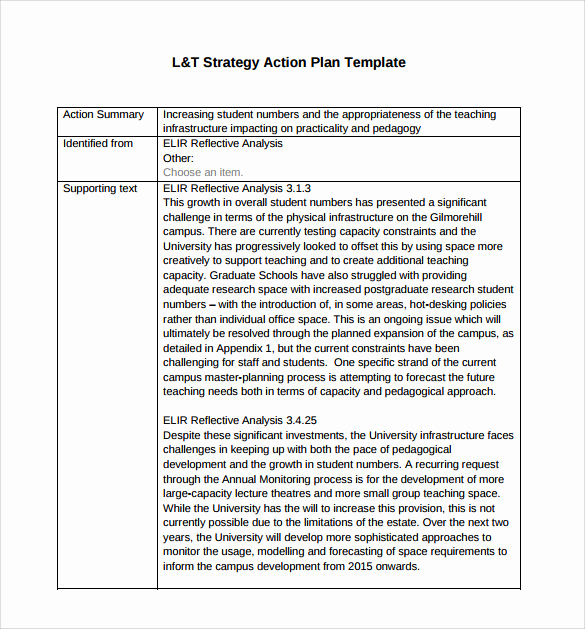 Strategic Planning Template Word Beautiful Strategic Action Plan Template 9 Download Documents In