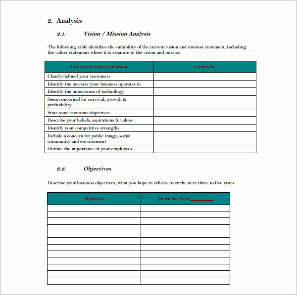 Strategic Planning Template Word Lovely 10 Strategic Plan Templates
