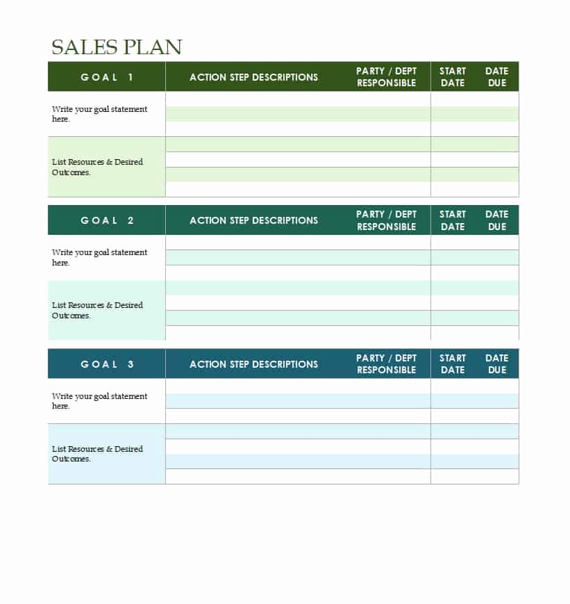 Strategic Planning Template Word Lovely 32 Sales Plan & Sales Strategy Templates [word & Excel]