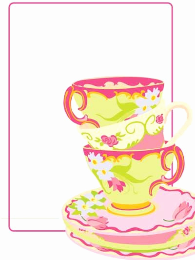 Tea Party Invitation Template Word Awesome Free Blank Tea Party Printable Free Printables