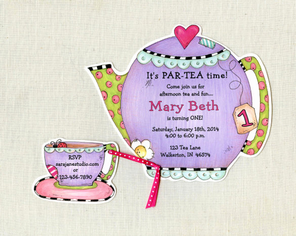 Tea Party Invitation Template Word Beautiful 41 Tea Party Invitation Templates Psd Ai
