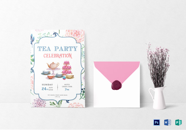 Tea Party Invitation Template Word Best Of 16 Kitty Party Invitation Designs & Templates Psd Ai