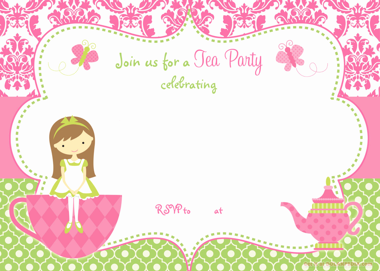 Tea Party Invitation Template Word Best Of Free Printable Tea Party Invitation Template for Girl
