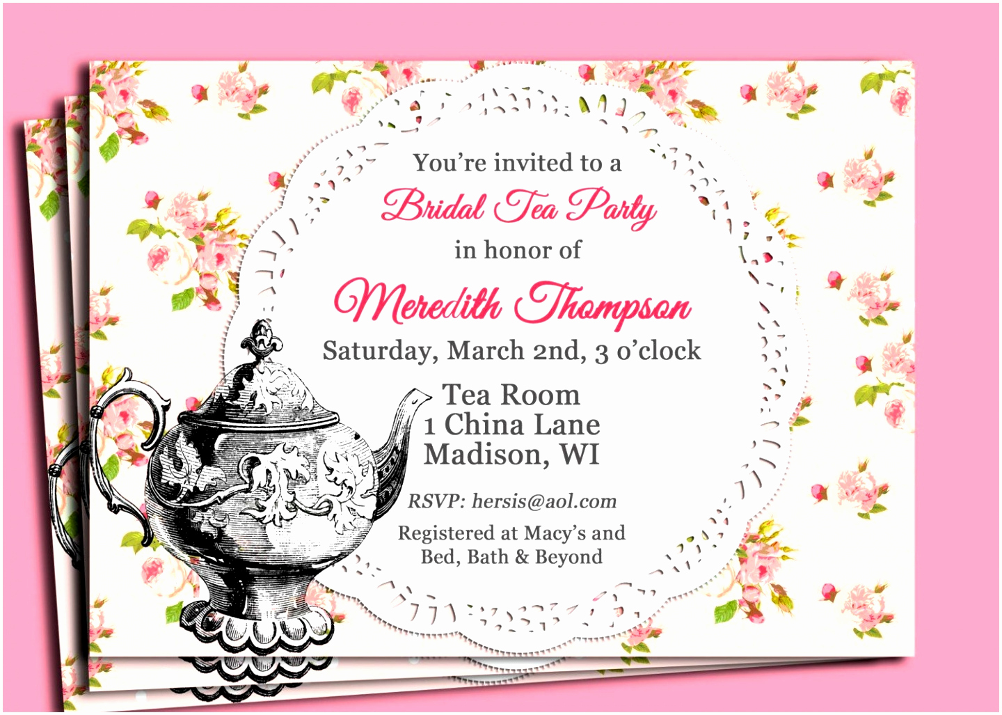 Tea Party Invitation Template Word Elegant 6 Tea Party Invitations Templates Free Wiawp