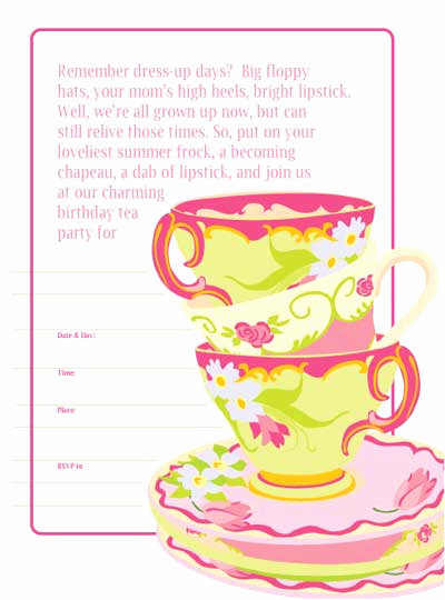 Tea Party Invitation Template Word Fresh 8 Best Of Free Printable Christmas Tea Party
