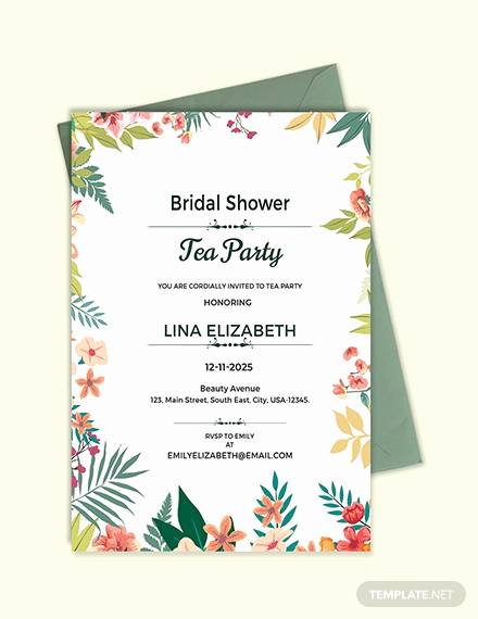 Tea Party Invitation Template Word Fresh Free Printable Tea Party Invitation Template Download 518