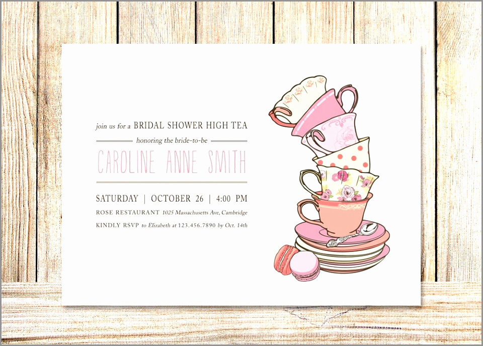 Tea Party Invitation Template Word Fresh Vintage Bridal Shower Tea Party Invitation Template