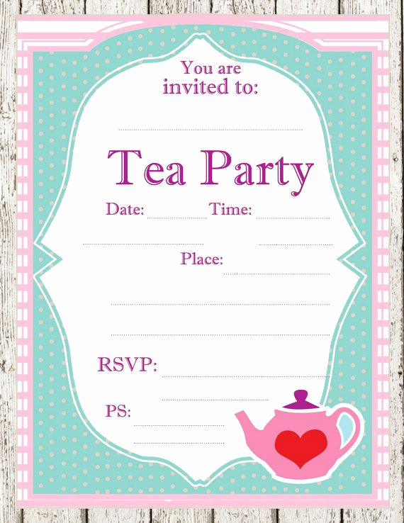 Tea Party Invitation Template Word Inspirational 12 Cool Mad Hatter Tea Party Invitations