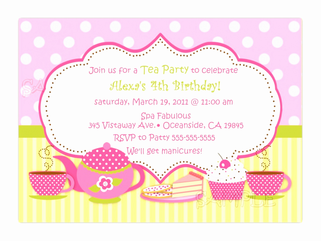 Tea Party Invitation Template Word Inspirational 6 Tea Party Invitations Templates Free Wiawp