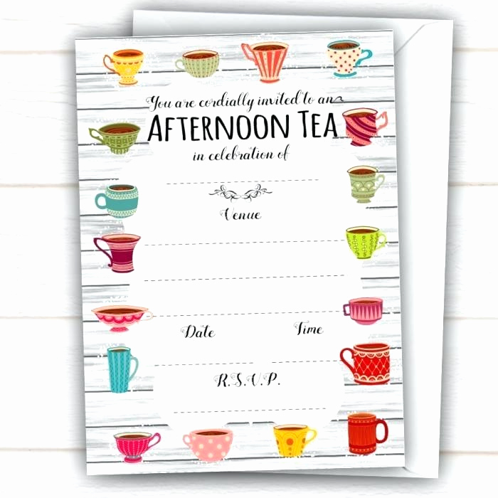 Tea Party Invitation Template Word Inspirational afternoon Tea Invitations Champagne Party Invitation