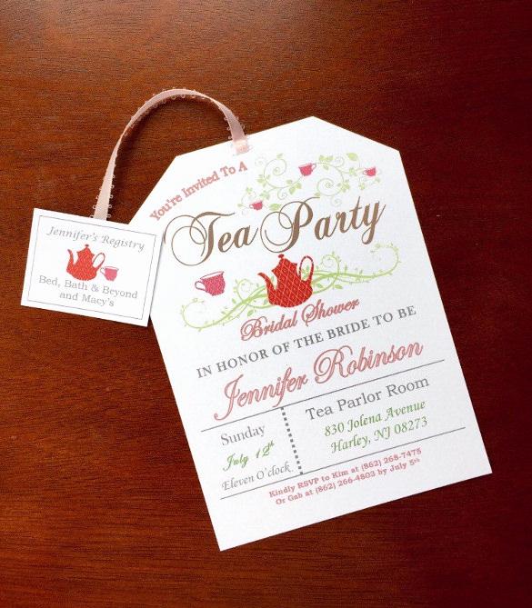 Tea Party Invitation Template Word Lovely 41 Tea Party Invitation Templates Psd Ai