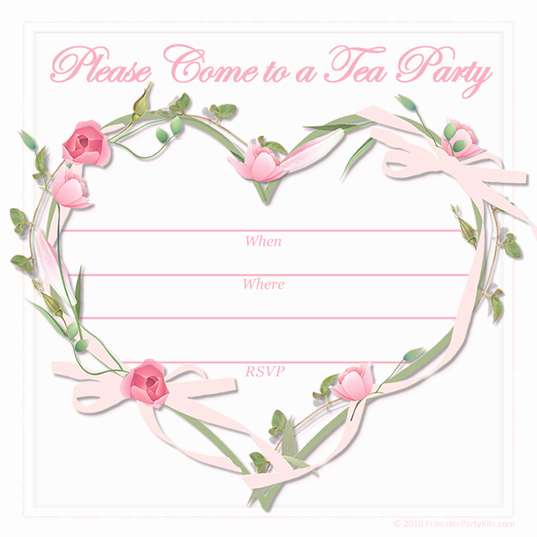 Tea Party Invitation Template Word Lovely Free Printable Tea Party Invitations Coffee