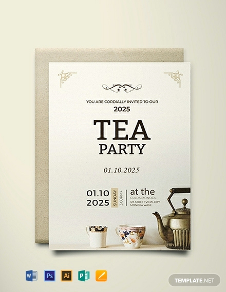 Tea Party Invitation Template Word Luxury Free High Tea Party Invitation Card Template Download 637
