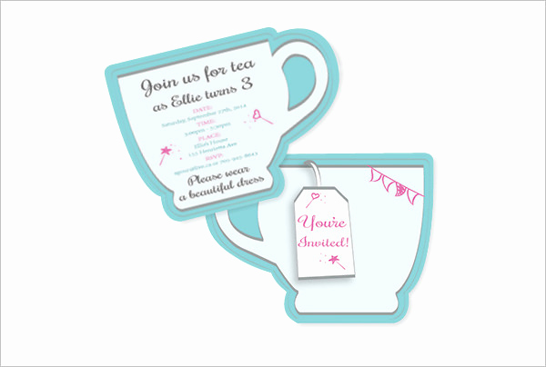 Tea Party Invitation Template Word New 41 Tea Party Invitation Templates Psd Ai