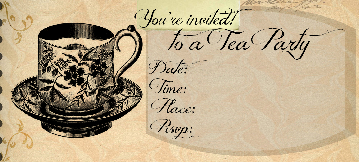 Tea Party Invitation Template Word New Tea Party Invitations Free Template