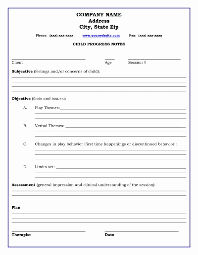 Therapist Progress Note Template New 83 Best Images About Documentation On Pinterest