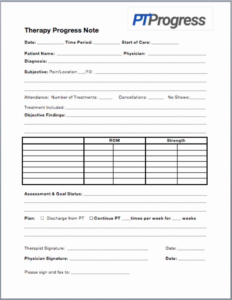 Therapist Progress Note Template New How to Write A Progress Note