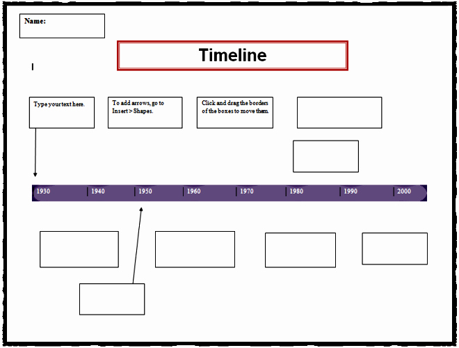 Timeline Template for Google Docs Fresh Timeline Sjl Teacher Professional Development