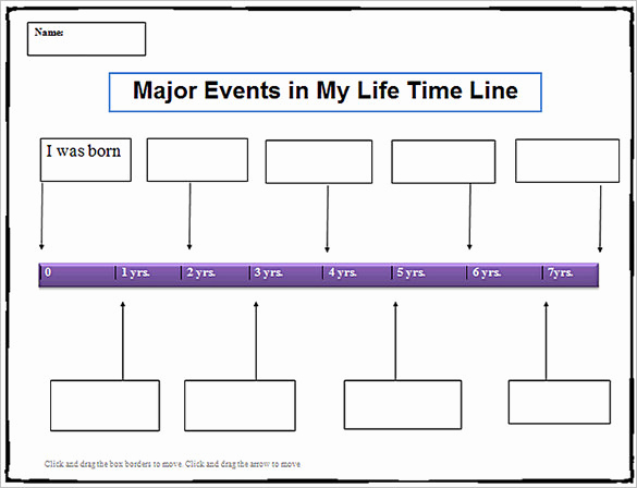 Timeline Templates for Word Beautiful 18 Personal Timeline Templates Doc Pdf