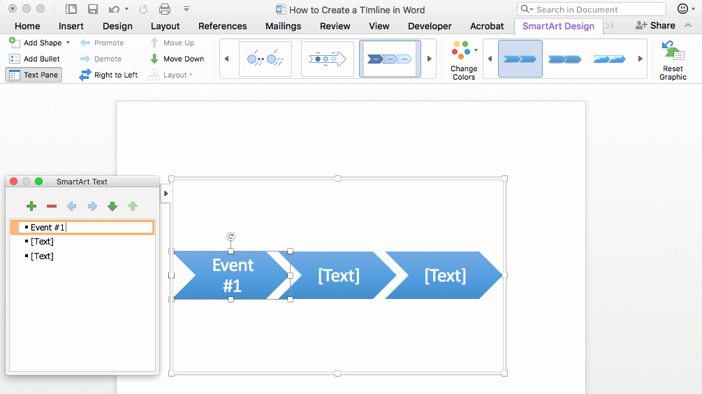 Timeline Templates for Word Elegant How to Make A Timeline In Word & Free Template