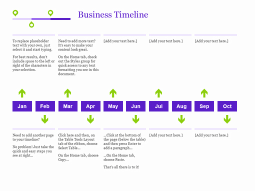 Timeline Templates for Word Inspirational Timelines Fice