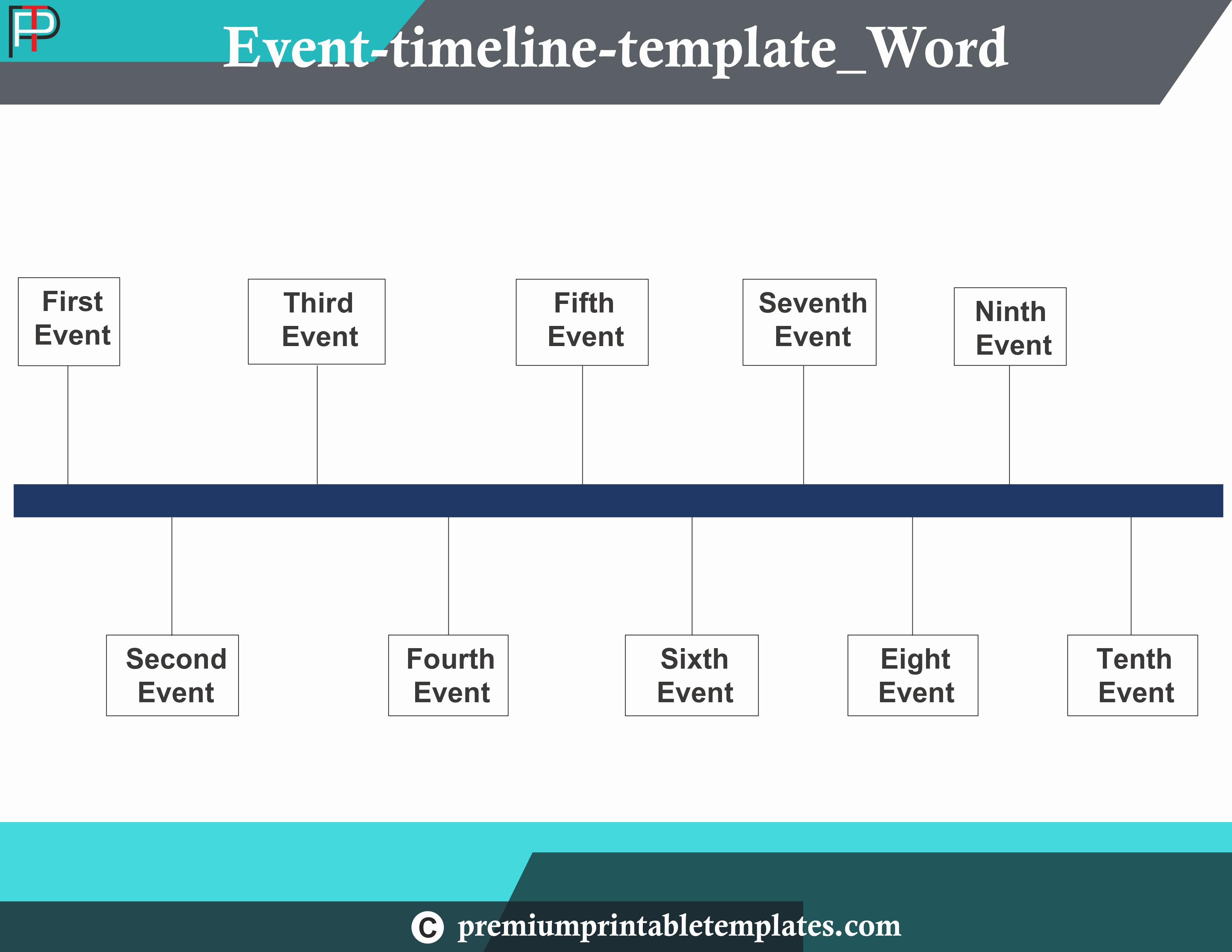 Timeline Templates for Word Lovely event Timeline Template Word – Premium Printable Templates