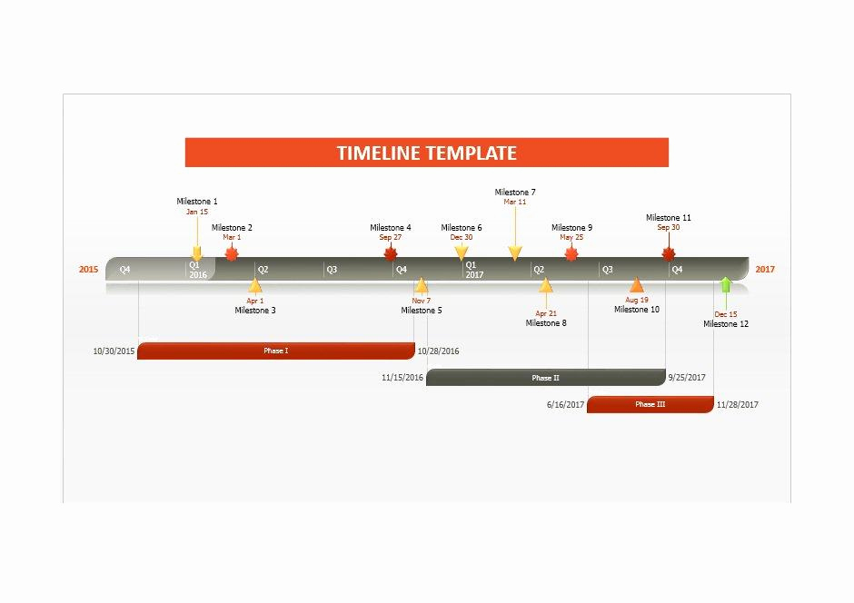 Timeline Templates for Word Unique 33 Free Timeline Templates Excel Power Point Word