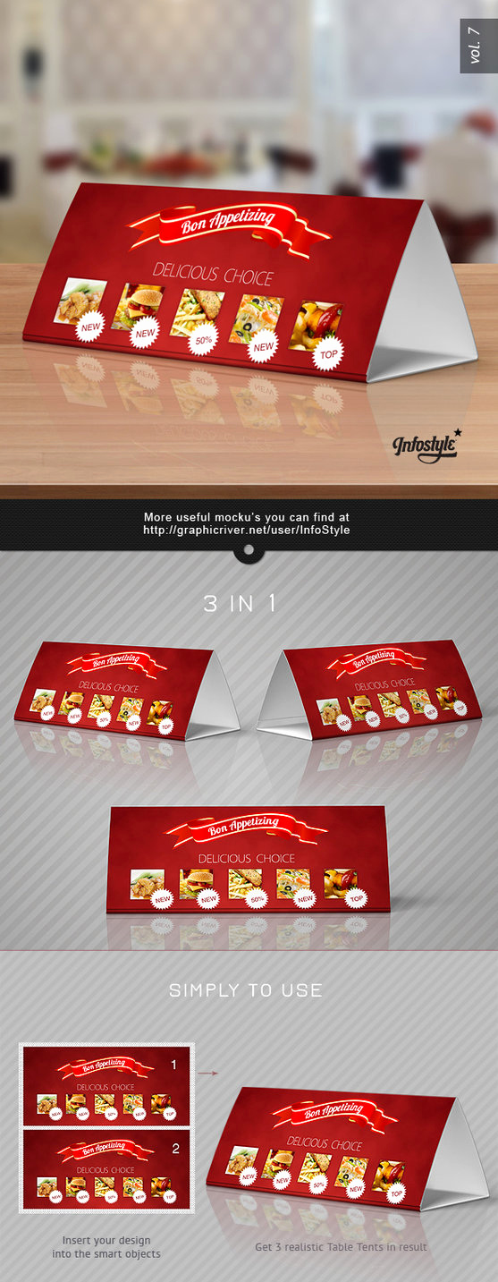 Tri Fold Table Tent Template Inspirational Tri Fold Table Tent Mock Up Template Vol 7 by Itembridge